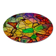 Abstract Squares Triangle Polygon Oval Magnet by AnjaniArt