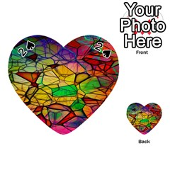 Abstract Squares Triangle Polygon Playing Cards 54 (heart)  by AnjaniArt
