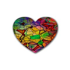 Abstract Squares Triangle Polygon Heart Coaster (4 Pack)  by AnjaniArt