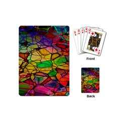 Abstract Squares Triangle Polygon Playing Cards (mini)  by AnjaniArt