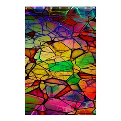 Abstract Squares Triangle Polygon Shower Curtain 48  X 72  (small)  by AnjaniArt