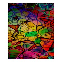 Abstract Squares Triangle Polygon Shower Curtain 60  X 72  (medium)  by AnjaniArt