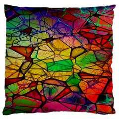 Abstract Squares Triangle Polygon Large Cushion Case (one Side) by AnjaniArt