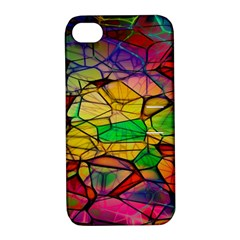 Abstract Squares Triangle Polygon Apple Iphone 4/4s Hardshell Case With Stand by AnjaniArt