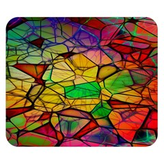 Abstract Squares Triangle Polygon Double Sided Flano Blanket (small)  by AnjaniArt