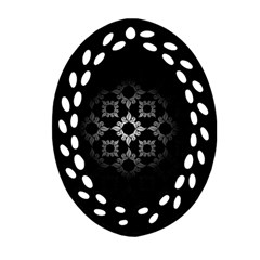 Antique Backdrop Background Baroque Oval Filigree Ornament (2 Side)  by AnjaniArt