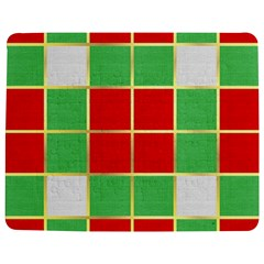 Christmas Fabric Textile Red Green Jigsaw Puzzle Photo Stand (rectangular) by AnjaniArt