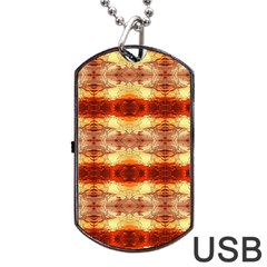 Fabric Design Pattern Color Dog Tag Usb Flash (one Side) by AnjaniArt