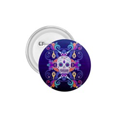 Día De Los Muertos Skull Ornaments Multicolored 1 75  Buttons by EDDArt