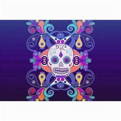 Día De Los Muertos Skull Ornaments Multicolored Collage Prints by EDDArt