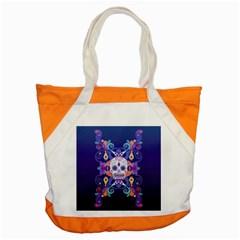 Día De Los Muertos Skull Ornaments Multicolored Accent Tote Bag by EDDArt