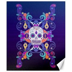 Día De Los Muertos Skull Ornaments Multicolored Canvas 20  X 24   by EDDArt