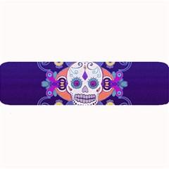 Día De Los Muertos Skull Ornaments Multicolored Large Bar Mats by EDDArt