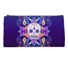 Día De Los Muertos Skull Ornaments Multicolored Pencil Cases by EDDArt