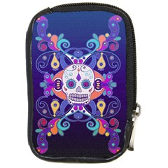 Día De Los Muertos Skull Ornaments Multicolored Compact Camera Cases by EDDArt