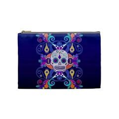 Día De Los Muertos Skull Ornaments Multicolored Cosmetic Bag (medium)  by EDDArt