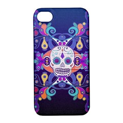 Día De Los Muertos Skull Ornaments Multicolored Apple Iphone 4/4s Hardshell Case With Stand by EDDArt