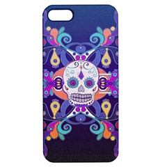 Día De Los Muertos Skull Ornaments Multicolored Apple Iphone 5 Hardshell Case With Stand by EDDArt