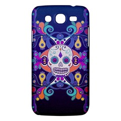 Día De Los Muertos Skull Ornaments Multicolored Samsung Galaxy Mega 5 8 I9152 Hardshell Case  by EDDArt