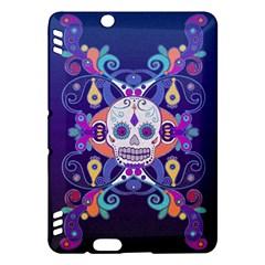 Día De Los Muertos Skull Ornaments Multicolored Kindle Fire Hdx Hardshell Case by EDDArt