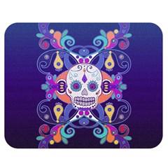 Día De Los Muertos Skull Ornaments Multicolored Double Sided Flano Blanket (medium)  by EDDArt