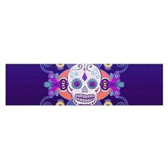 Día De Los Muertos Skull Ornaments Multicolored Satin Scarf (oblong) by EDDArt