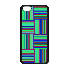 Fabric Pattern Design Cloth Stripe Apple Iphone 5c Seamless Case (black) by AnjaniArt