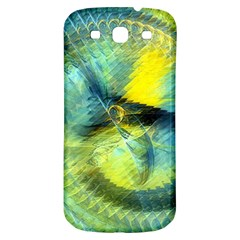 Light Blue Yellow Abstract Fractal Samsung Galaxy S3 S Iii Classic Hardshell Back Case by designworld65