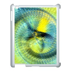 Light Blue Yellow Abstract Fractal Apple Ipad 3/4 Case (white) by designworld65