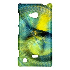 Light Blue Yellow Abstract Fractal Nokia Lumia 720 by designworld65