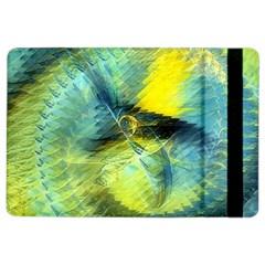 Light Blue Yellow Abstract Fractal Ipad Air 2 Flip by designworld65