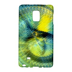 Light Blue Yellow Abstract Fractal Galaxy Note Edge by designworld65