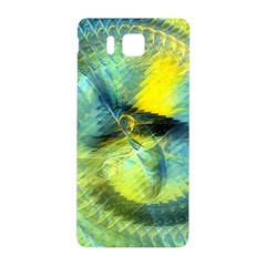 Light Blue Yellow Abstract Fractal Samsung Galaxy Alpha Hardshell Back Case by designworld65