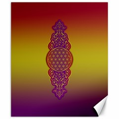 Flower Of Life Vintage Gold Ornaments Red Purple Olive Canvas 20  X 24   by EDDArt