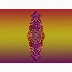 Flower Of Life Vintage Gold Ornaments Red Purple Olive Canvas 36  X 48   by EDDArt