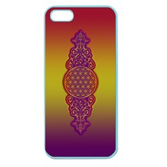 Flower Of Life Vintage Gold Ornaments Red Purple Olive Apple Seamless Iphone 5 Case (color) by EDDArt