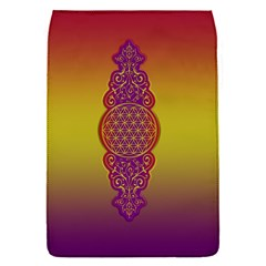 Flower Of Life Vintage Gold Ornaments Red Purple Olive Flap Covers (s)  by EDDArt