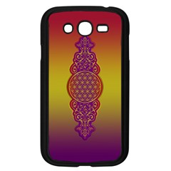 Flower Of Life Vintage Gold Ornaments Red Purple Olive Samsung Galaxy Grand Duos I9082 Case (black) by EDDArt