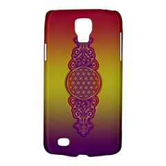 Flower Of Life Vintage Gold Ornaments Red Purple Olive Galaxy S4 Active by EDDArt