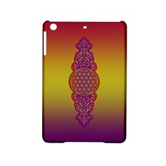 Flower Of Life Vintage Gold Ornaments Red Purple Olive Ipad Mini 2 Hardshell Cases by EDDArt