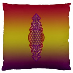 Flower Of Life Vintage Gold Ornaments Red Purple Olive Standard Flano Cushion Case (one Side) by EDDArt