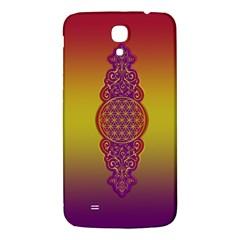 Flower Of Life Vintage Gold Ornaments Red Purple Olive Samsung Galaxy Mega I9200 Hardshell Back Case by EDDArt