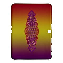 Flower Of Life Vintage Gold Ornaments Red Purple Olive Samsung Galaxy Tab 4 (10 1 ) Hardshell Case  by EDDArt
