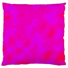 Simple Pink Large Cushion Case (one Side) by Valentinaart
