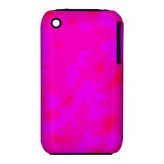 Simple Pink Apple Iphone 3g/3gs Hardshell Case (pc+silicone) by Valentinaart