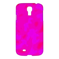 Simple Pink Samsung Galaxy S4 I9500/i9505 Hardshell Case by Valentinaart