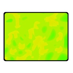 Simple Yellow And Green Double Sided Fleece Blanket (small)  by Valentinaart