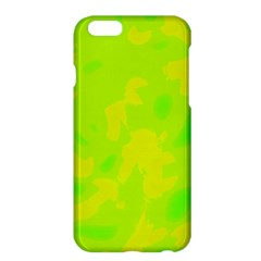 Simple Yellow And Green Apple Iphone 6 Plus/6s Plus Hardshell Case by Valentinaart