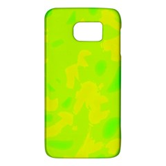 Simple Yellow And Green Galaxy S6 by Valentinaart