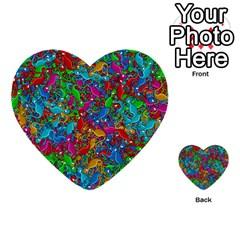 Lizards Multi Purpose Cards (heart)  by Valentinaart